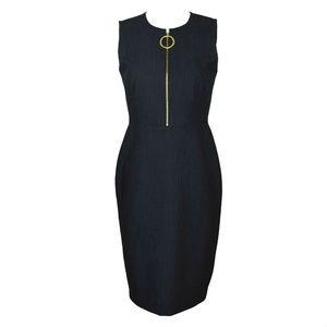 Calvin Klein Sheath Dress Front Zipper Size 4 New